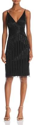 Adrianna Papell Beaded V-Neck Dress