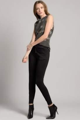 Ragdoll LA HIGH WAISTED TRACK PANTS Black