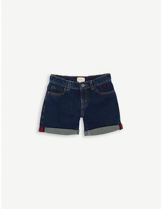 Gucci Heart-appliqué denim shorts