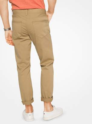 Michael Kors Slim-Fit Cotton-Twill Five-Pocket Pants