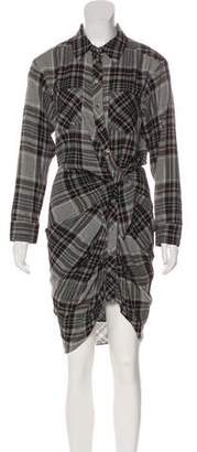 Veronica Beard Plaid Midi Dress