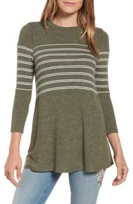 Caslon Stripe Panel Sweater