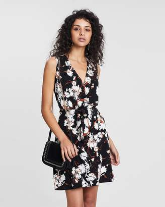 Mng Crossed Wrap Dress