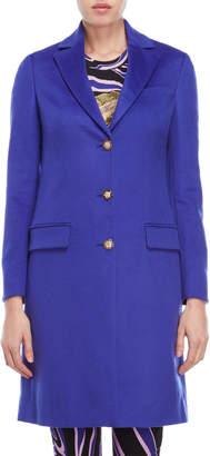 Versace Royal Blue Cashmere Coat