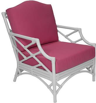 David Francis Furniture Chippendale Sunbrella Lounge Chair - Pink