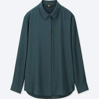 Uniqlo WOMEN Rayon Long Sleeve Blouse