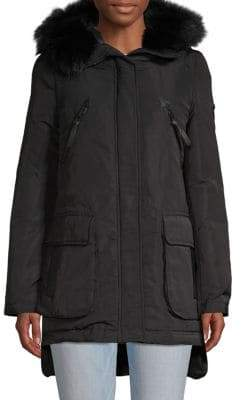 Derek Lam 10 Crosby Fox Fur-Trimmed Down Parka
