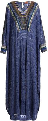Missoni Embellished V-neck knit kaftan