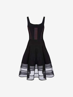 Alexander McQueen Feather Stitch Corset Dress