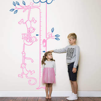 Wall Art Monkeys Hanging From Tree Height Chart