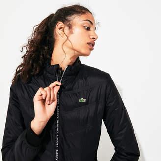 Lacoste Women's SPORT Quilted Zip-Front Tennis Jacket
