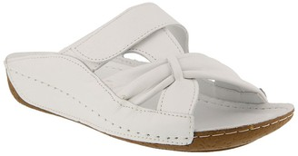 Spring Step Leather Slide Sandals - Gretta