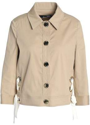 Love Moschino Lace-Up Stretch-Cotton Corduroy Jacket