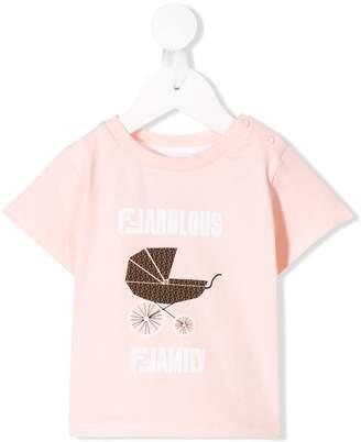 Fendi fabulous family print T-shirt