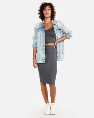Express High Waisted Supersoft Pencil Skirt