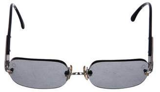Montblanc Tinted Rectangle Sunglasses