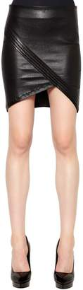 RtA Asymmetrical Leather Mini Skirt
