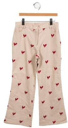 Lilly Pulitzer Girls' Embroidered Pants