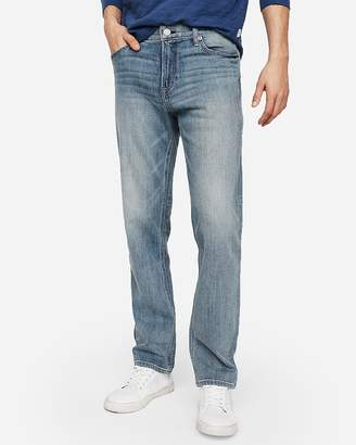 Express Classic Straight Light Wash Soft Cotton Stretch Jeans