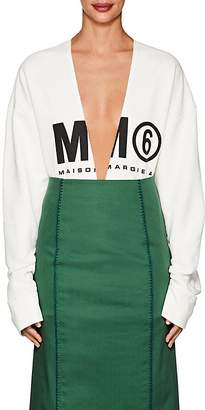 MM6 MAISON MARGIELA Women's Logo Cotton Oversized Sweatshirt