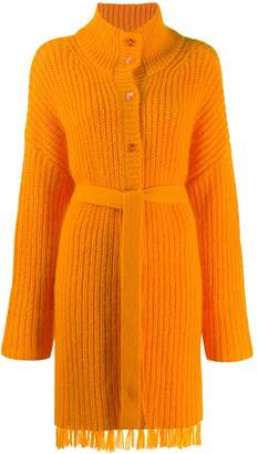 Kenzo belted long-line cardigan