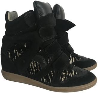 Isabel Marant Beckett pony-style calfskin trainers