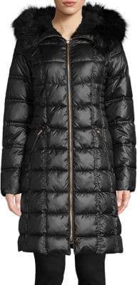 Laundry by Shelli Segal Faux-Fur Trim Therma Tech Parka