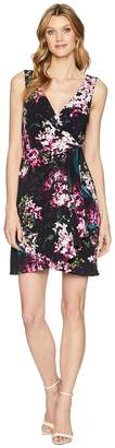 Adrianna Papell Printed Jersey Fit and Flare Dress Women's Dress