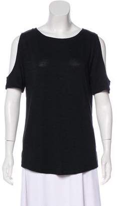 Rag & Bone Cold-Shoulder Short Sleeve Top