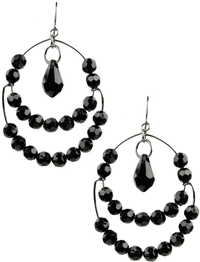Adele Beaded Wire Earrings