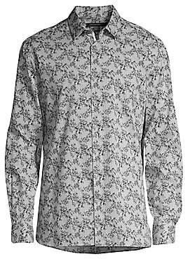 John Varvatos Men's Floral Stripe Button-Down Shirt
