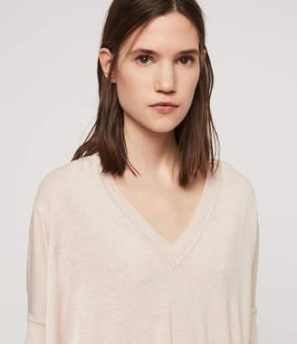 AllSaints Alda Panel V-neck Sweater