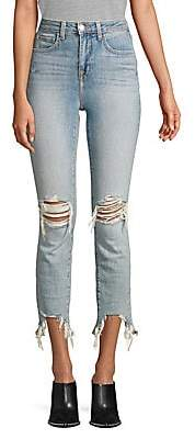 L'Agence Women's Highline High-Rise Skinny Distressed Jeans
