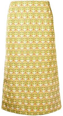La DoubleJ geometric pencil skirt