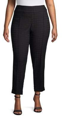 Lord & Taylor Plus Classic Houndstooth Pants