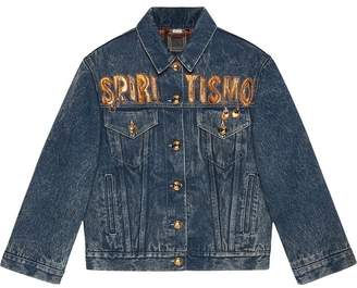 Gucci Spiritismo denim jacket