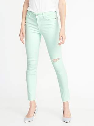Old Navy Mid-Rise Rockstar Distressed Super Skinny Ankle Jeans for Women