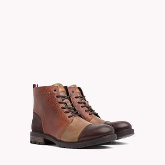 Tommy Hilfiger Mix Material Leather Boot