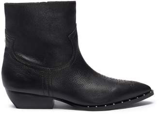 Sam Edelman 'Ava' contrast topstitching studded leather boots