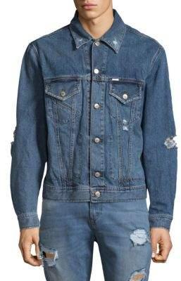 Diesel Robyn Distressed Denim Jacket