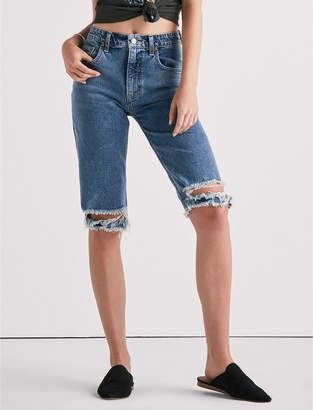 Lucky Brand Bermuda Short With Destroyed Hem