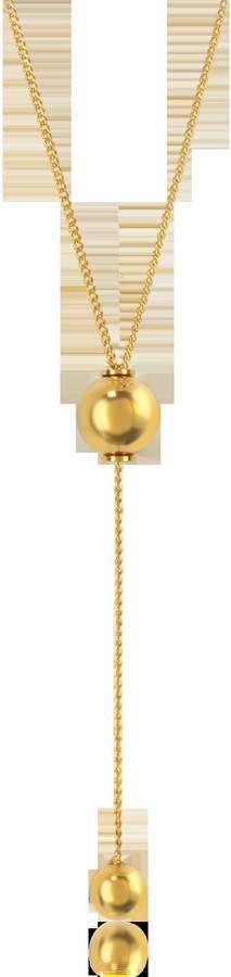 Vita Fede O'hara Gold Tone Drop Lariat Necklace