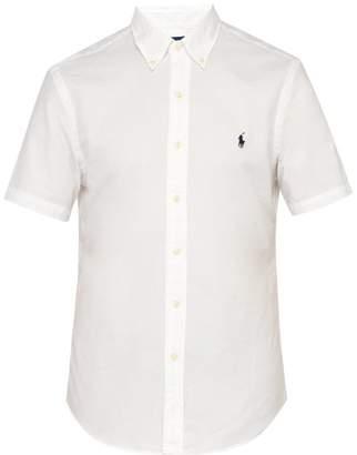Polo Ralph Lauren Logo Embroidered Button Down Shirt - Mens - White