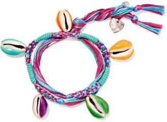 Aurelie Bidermann Takayama Braided Cotton And Resin Bracelet - Blue