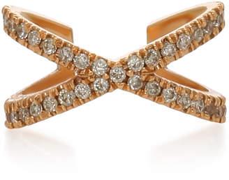 Eva Fehren X Rose Gold and Diamond Earcuff