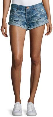 One Teaspoon Bandits Distressed Denim Shorts, Dark Blue $79 thestylecure.com