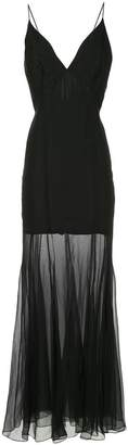 Olivier Theyskens plunge-neck sheer layer dress