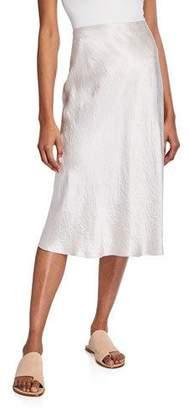 Vince Satin Slip Midi Skirt