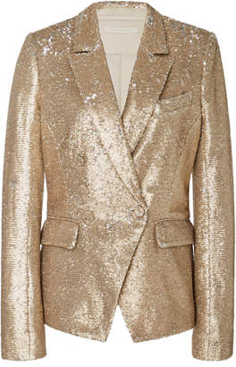 Jonathan Simkhai Sequined Distressed Crepe Blazer