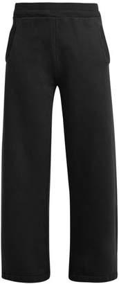 Katharine Hamnett Wide Leg Organic Cotton Track Pants - Womens - Black